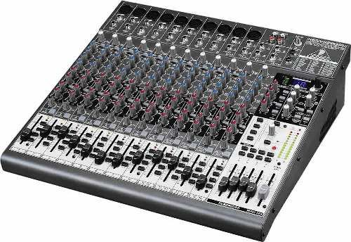 Behringer Xenyx 2442FX Premium 24-Input 4/2-Bus Mixer with XENYX Mic Preamps, British EQs, 24-Bit Multi-FX Processor and USB/Audio Interface, Channel inserts and direct outputs on each mono channel plus main mix inserts for flexible connection of outboard equipment, 4 subgroups with separate outputs for added routing flexibility; 4 multi-functional stereo aux returns with flexible routing (XENYX2442FX XENYX-2442FX 2442-FX 2442 FX)