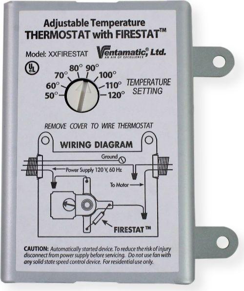 ventamatic cool attic xxfirestat adjustable thermostat for