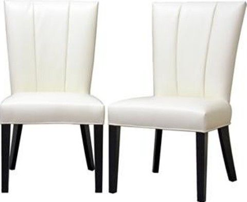Wholesale Interiors Y 928 DU8143 Janvier Off White Leather Modern Dining Chai