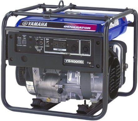Yamaha YG4000D Premium Dual-Voltage Generator - 4000 Watts, Recoil start, low oil warning system, Push button circuit breakers,  Brushless AC-type generator,  Improved combustion chamber design, Noise suppressor, Auto decompression for effortless manual starting (YG-4000D   YG 4000D)