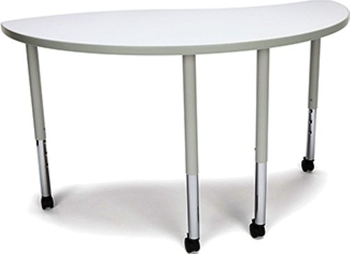 OFM YING-LLC-WHT Adapt Series Ying table with Casters, Height adjustment of 25