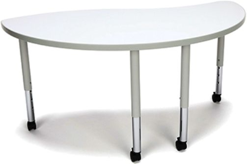 OFM YING-SLC-WHT Adapt Series Ying table with Casters, Height adjustment of 20