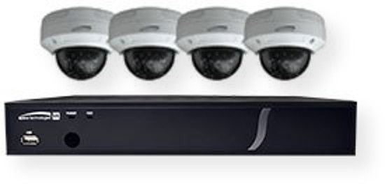 Speco Technologies ZIPT4D1 4 Channel TVI DVR Dome Cameras; Black and White; 1080p 15fps / 720p 30fps over coax; Backward compatible with all analog cameras; Signal distance up to 1600 feet; Video Out: 1 HDMI, 1 VGA, 1 CVBS; H.264 video compression; Free U.S.Based DDNS Server Access; 5 year warranty; UPC 030519018791 (ZIPT4D1 ZIPT4-D1 ZIPT4D1CAMERA ZIPT4D1-CAMERA  ZIPT4D1SPECOTECHNOLOGIES ZIPT4D1-SPECOTECHNOLOGIES)