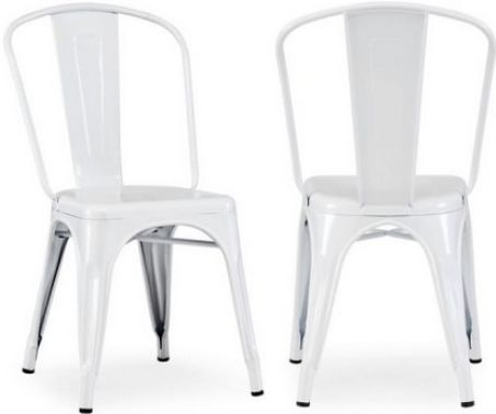 Zuo Modern 108141 Elio Chair, White; As seen in many bistros across France, is a classic piece used for generations; The chair is electrical plated; Seat Width 14 Inches; Seat Depth 14 Inches; Seat Height 17.92 Inches; Dimensions (WxDxH) 17 x 19.7 x 33.4 Inches; Price per Unit, Sold in multiples of 2; UPC 816226012723 (ZUO108141 ZUO-108141 10-8141 108-141 1081-41)