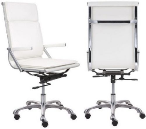 Zuo Modern 215232 Lider Plus High Back Office Chair White