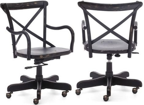 Zuo Modern 98030 Union Square Office Chair Black Adjustable – Black Wood Office Chair
