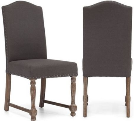 Charmant Zuo Modern 98073 Richmond Chair, Charcoal Gray, A Weathered Finish And  Antiqued Brass Nailheads Bring A Touch Of Rustic Flair To Our Nailhead  Upholstered ...