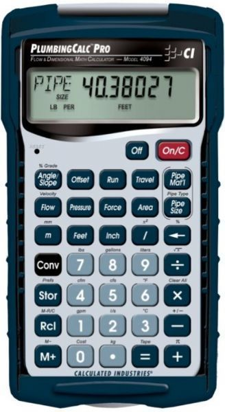 Calculated Industries 4094 Flow & Dimensional Math Calculator, Right ...
