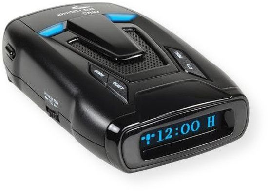 Whistler CR93 Radar Laser Detector; Black; Optimum Performance; Bilingual (English/Spanish) Real Voice Alerts; Bilingual (English/Spanish Blue OLED Text Alerts; Internal GPS (provides alerts for red light and speed camera locations in the U.S and Canada); Total Laser Detection; Traffic Flow Signal Rejection (TFSR); Field Disturbance Sensor;  UPC 052303407796  (CR93 CR-93 WHISTLERCR93 CR93RADARLASER CR93-RADARLASER CR93WHISTLER CR93-WHISTLER)