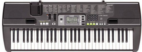 Casio CTK-710 61-Key Full-Size Keyboard, 100 Rhythmen, 32-stimmig polyphon, Mikrofoneingang, Auto-accompaniment, Microphone input / USB MIDI, 100 rhythms, Tune and transpose function, LC display, Terminals: mic in, headphone, sustain pedal, USB (CTK710  CTK 710)