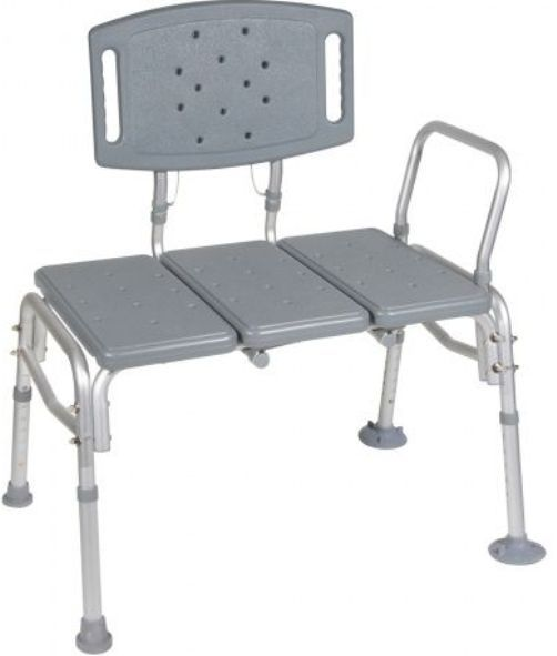 Drive Medical 12025KD-1 Heavy Duty Bariatric Plastic Seat Transfer Bench, 16.5