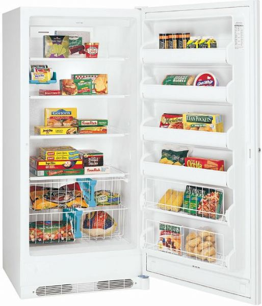 Frigidaire GLFU2067FW Upright Freezer 20.3 Cu. Ft. Capacity, Frost Free  Defrost, Automatic Door Closer, Child Lock, Door Ajar Alarm, Interior  Light, ...