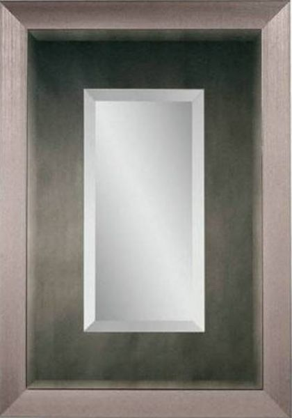 Bassett mirror m3250bec aero wall mirror stainless finish for Types of mirror frames
