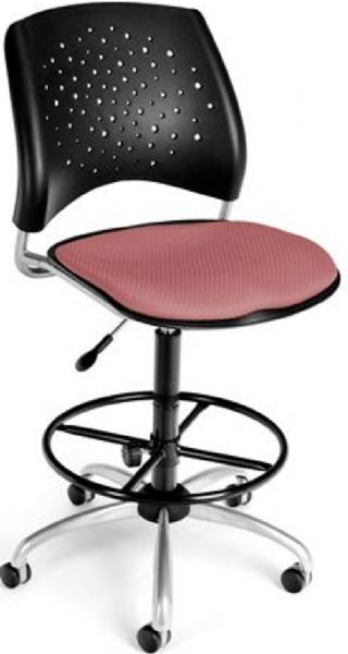 OFM 326-DK-2208 Stars Series Armless Fabric Swivel Chair with Drafting Kit, 5 Star 25