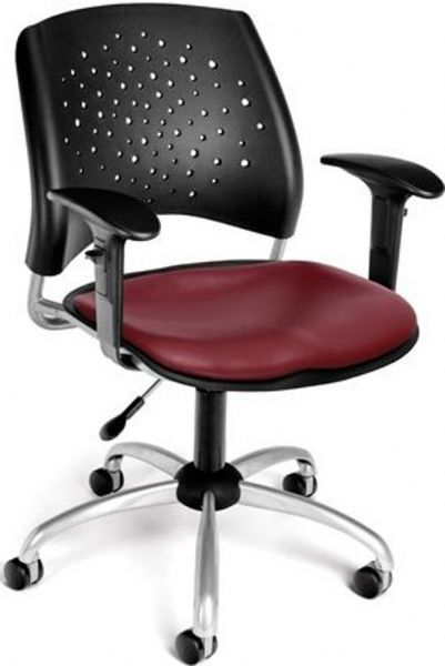 OFM 326-VAM-AA3-603 Stars Swivel Vinyl Chair with Arms, 27