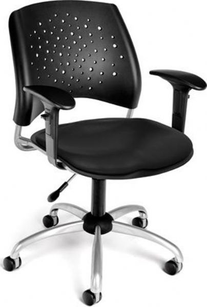 OFM 326-VAM-AA3-606 Stars Swivel Vinyl Chair with Arms, 27