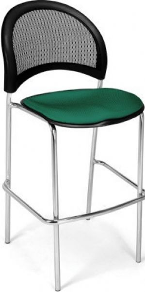OFM 338C-2PK-2201 Moon Cafe Height Chair Chrome Base - Two Pack, 31.25