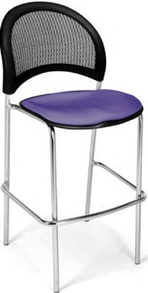 OFM 338C-2PK-2202 Moon Cafe Height Chair Chrome Base - Two Pack, 31.25
