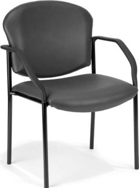 OFM 404-VAM-604 Anti-Microbial/Anti-Bacterial Vinyl Guest/Reception Chair with Arms, 4 Legs Base, 18