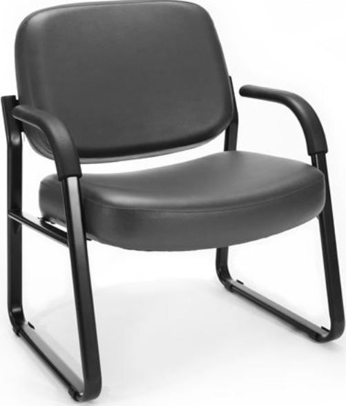 OFM 407-VAM-604 Steel Guest/Reception Chair with Arms, 23