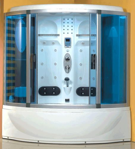 Wasauna Was 2252 Blue Glass Steam Shower 24 Jet Capacity